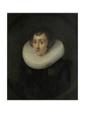 Portrait of Hortensia Del Prado Print by Salomon Mesdach