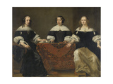 Portrait of the Three Regentesses of the Leprozenhuis, Amsterdam Láminas por Ferdinand Bol