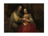 Portrait of a Couple as Isaac and Rebecca, known as 'The Jewish Bride' Posters by  Rembrandt van Rijn
