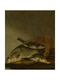 Still Life with Fish Prints by Pieter de Putter