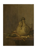 Still Life with Stoneware Jug and Pipes Posters by Jan Jansz Treck
