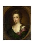Portrait of Emerantia Van Citters, Sister of Anna Van Citters Poster by Simon Dubois