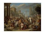 Jeroboam Sacrificing to the Idols Premium Giclee Print by Jacques Ignatius De Roore
