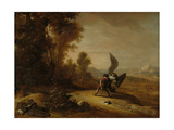 Jacob Wrestling with the Angel Prints by Bartholomeus Breenbergh