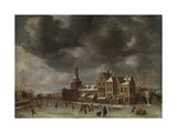 View the Blauwpoort Leiden in Winter Prints by Abraham Beerstraten