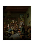 Wandering Peepshow for Family with Children Prints by Willem Van Mieris
