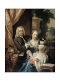 Family Portrait of Isaac Parker Print by Philip van Dijk