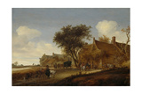 A Village Inn with Stagecoach, Salomon Van Ruysdael Print by Salomon van Ruysdael