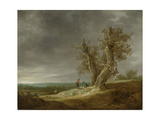 Landscape with Two Oaks Poster von Jan Van Goyen