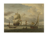 Anchorage of Enkhuizen Prints by Abraham Storck