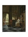 Man Handing a Letter to a Woman Prints by Pieter de Hooch