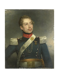 Portrait of Christian Edouard Fraser, Second Lieutenant of the 5th Regiment of the Dragoons Poster by Charles Howard Hodges