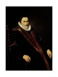 Portrait of Cornelis Pietersz Hooft Poster von Cornelis van der Voort