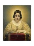 Gravin De Pages, Nee De Cornellan, Als De Heilige Catharina, Joseph Desirecourt. Art by Joseph Desire Court