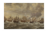 Four Days Naval Battle Giclée-Premiumdruck von Willem van de Velde