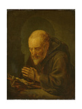 Praying Hermit Posters by Gerard Dou