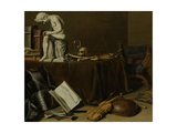 Vanitas Still Life with the Spinario Prints by Pieter Claesz