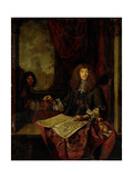 Portrait of Carel Quina, Knight of the Holy Sepulchre and Amsterdam-Born Explorer of Asia Prints by Jacob Toorenvliet