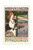 Harper's Bazar Thanksgiving 1894 Prints by Louis Rhead