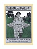 Columbia Bicycles Insure Cycling Delight, Standard of the World, Pope Manufacturing Co Posters af Maxfield Parrish