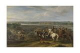 Louis XIV Crossing into the Netherlands at Lobith Poster by Adam Frans van der Meulen