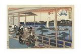 Restaurant Kawachiya in Yanagibashi Posters by Utagawa Hiroshige