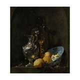 Still Life with Silver Ewer Premium Giclee Print by Willem Kalf