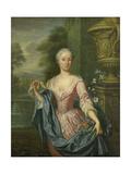 Portrait of Claudine Van Royen (Born), Wife of Pieter Teding Van Berkhout Print by Hieronymus van der Mij