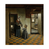 Woman with a Child in a Pantry Prints by Pieter de Hooch