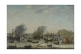 Victory over the Spanish Near Gibraltar by a Fleet Commanded by Admiral Jacob Van Heemskerck Prints by Adam Willaerts