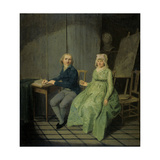A Painter with His Wife Prints by Wybrand Hendriks