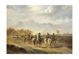 Cossacks on a Country Road Near Bergen in North Holland Kunstdrucke von Pieter Gerardus van Os