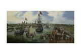 Departure of a Dignitary from Middelburg Kunst von Adriaen Pietersz van de Venne