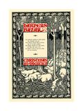 Harpers Bazar, Christmas A.D. MDCCCXCV Prints by Will Bradley