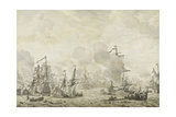 Episode from the Battle Between the Dutch and Swedish Fleets in the Sound Giclée-Premiumdruck von Willem van de Velde