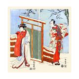 Japanese Romance Poster by Katsukawa Shunsho