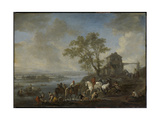 Watering Horses at a River Print by Philips Wouwerman