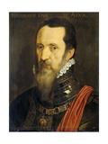 Portrait of Fernando Alvarez De Toledo, Duke of Alba Premium Giclee Print by Willem Key