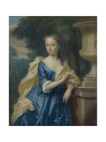 Portrait of Justina Johanna Ramskrammer, Wife of Isaac Parker Art by Philip van Dijk