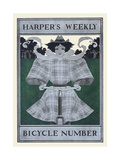 Harper's Weekly Bicycle Number Poster af Maxfield Parrish
