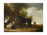 Group Portrait in a Landscape (An Open-Air Party) Lámina por Jacob Gerritsz Cuyp