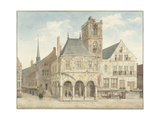 Old Town Hall on Dam Square in Amsterdam Poster by Pieter Jansz Saenredam