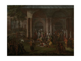Murder of Patrona Halil and His Fellow Rebels Giclée-Premiumdruck von Jean Baptiste Vanmour