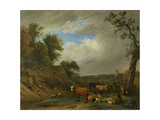 Herdsmen with their Cattle, after Paulus Potter Prints by Paulus Potter
