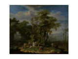 Arcadian Landscape with a Ceremonial Sacrifice Prints by Jan van Huysum