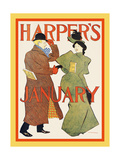 Harper's January Posters by Edward Penfield