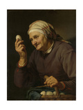 Old Woman Selling Eggs Posters by Hendrick Bloemaert