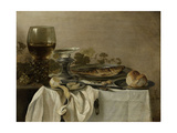 Still Life with a Fish Láminas por Pieter Claesz