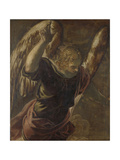 Angel from the Annunciation to the Virgin Posters by Jacopo Tintoretto