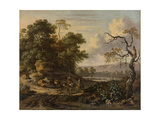 Landscape with a Man Riding a Donkey Posters by Jan Wijnants